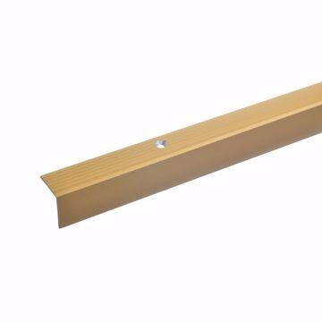 Treppenstufen-Profil aus Alu Gelochtes Stufenkanten-Profil Treppenkanten-Profil acerto 38058 Aluminium Treppenwinkel-Profil bronze hell * Rutschhemmend * Robust * Leichte Montage 100cm 32x30mm