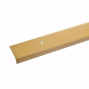 42x40mm 135cm acerto 51130 Aluminium Treppenwinkel-Profil Treppenstufen-Profil Alu Selbstklebendes Treppenkanten-Profil bronze hell * Rutschhemmend * Robust * Leichte Montage Treppenkanten-Profil