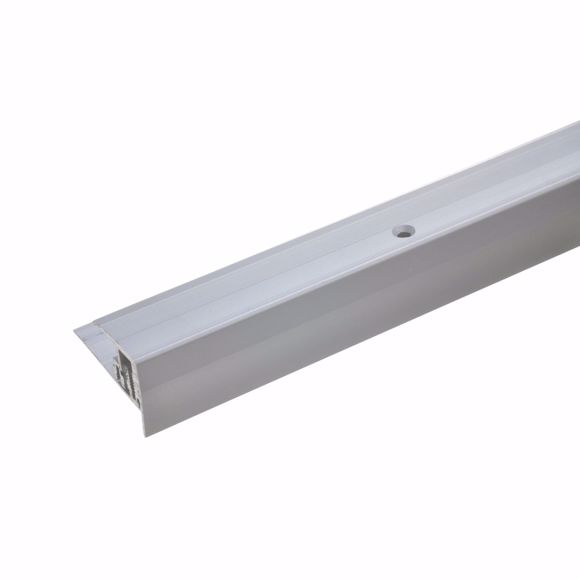 Immagine di Profilo bordo gradino per parquet laminato 7-15,5 mm - 90cm protezione bordi in alluminio
