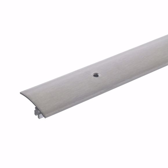 Picture of Transition profile 90cm stainless steel colored 37 x 7-17mm drilled stainless steel