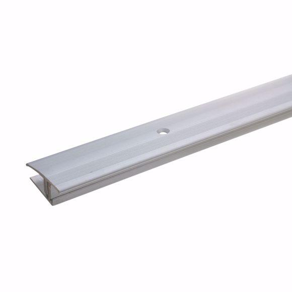Obrazek Profil przejsciowy 90cm srebrny wiercony 35 x 12-22 mm