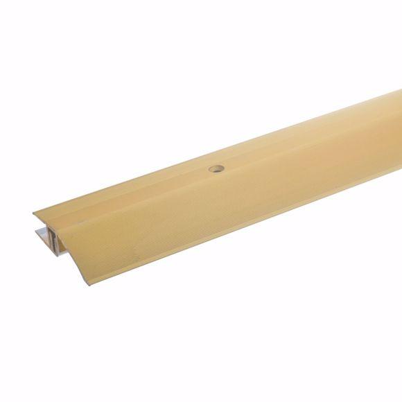 Afbeelding van Aluminium hoogteverstelprofiel 100cm goud 7-15mm