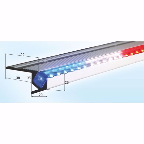 Picture of LED stair edge profile silver 100 cm incl. power supply unit