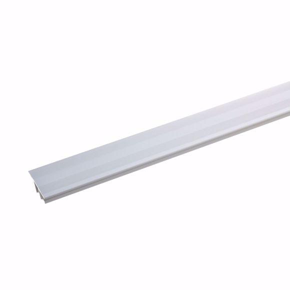 Image sur Profilé de transition en aluminium 2 parties - 90cm argent 7-10mm