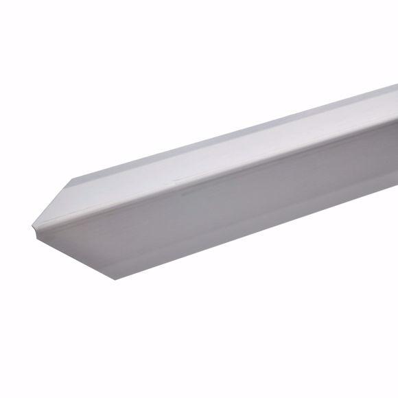 Afbeelding van Hoekbeschermingshoek 40x40x1mm 100cm roestvrij staal zelfklevend driedubbele rand met tip