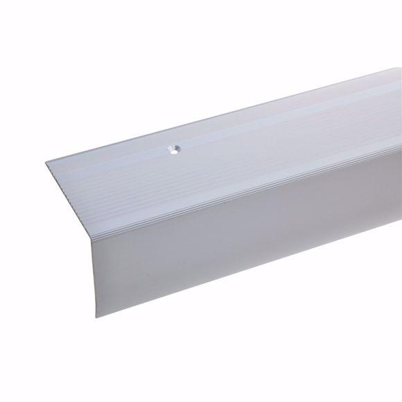 Bild von 55x69mm Treppenwinkel 100cm lang silber gebohrt