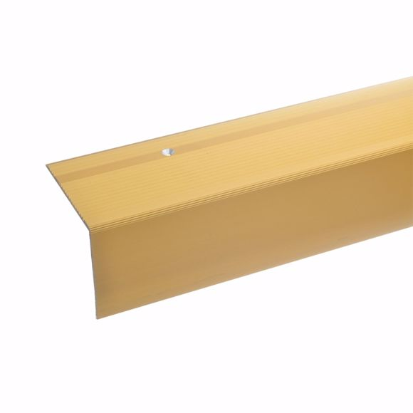 Picture of 55x69mm stair angle 100cm long gold drilled