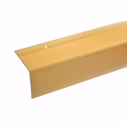 Image de Profil de bord de marche - 170cm x 55x69mm - doré percé