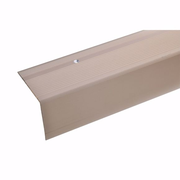 Picture of 55x69mm stair angle 100cm long bronze light drilled