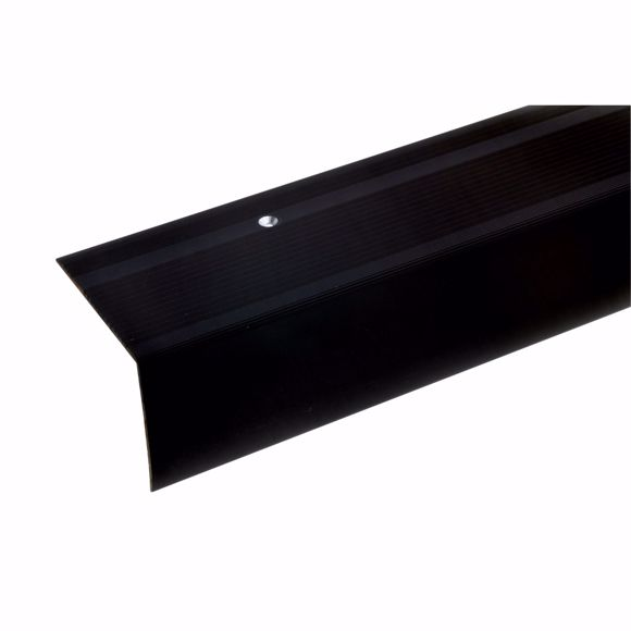 Picture of 55x69mm stair angle 100cm long bronze dark drilled