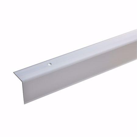 Afbeelding van 42x30mm traphoek 100cm lang, zilver, geboord