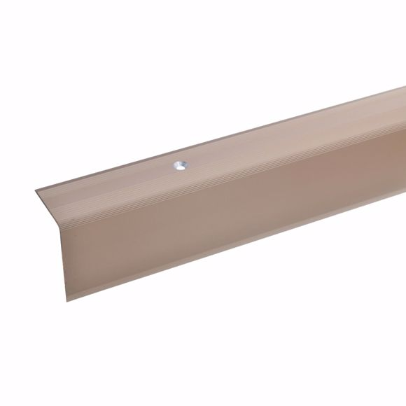 Picture of 42x30mm stair angle 100cm long bronze light drilled