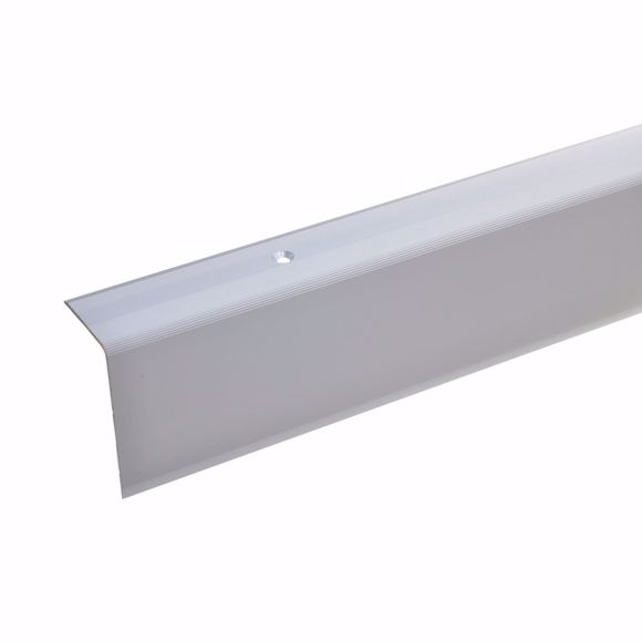 Picture of 52x30mm stair angle 100cm long silver drilled