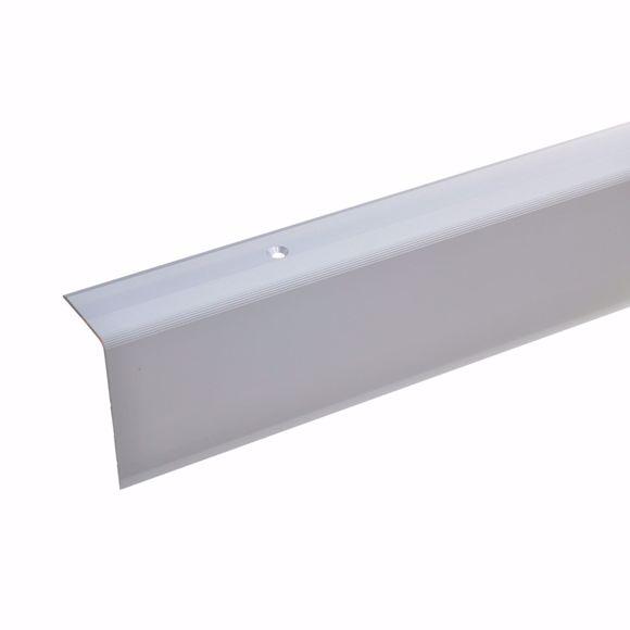 Bild von 52x30mm Treppenwinkel 100cm lang silber gebohrt