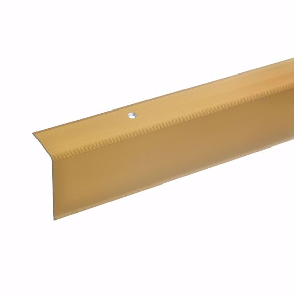 Picture of 52x30mm stair angle 100cm long gold drilled