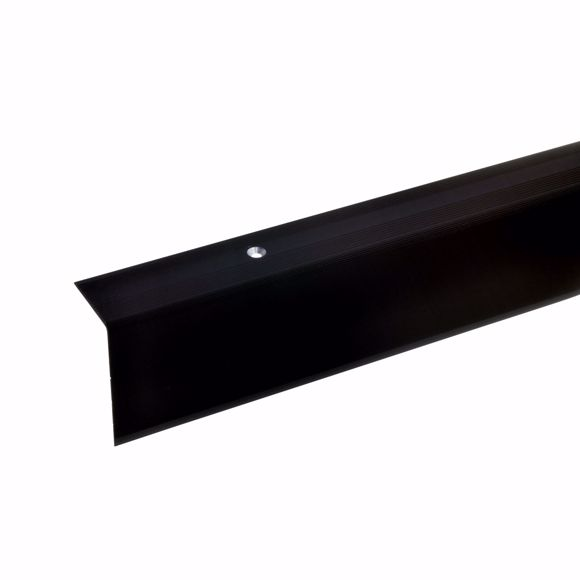 Picture of 52x30mm stair angle 100cm long bronze dark drilled