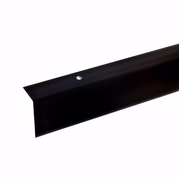 Bild von 52x30mm Treppenwinkel 100cm lang bronze dunkel gebohrt