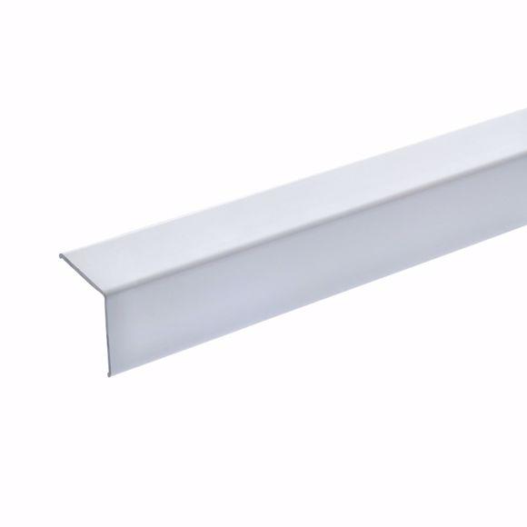 Bild von Eckschutzwinkel 20x20x18 mm - 125 cm - Aluminium weiß