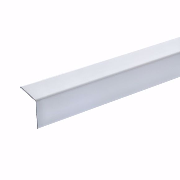 Picture of Corner protection angle 25x25x19 mm - 125 cm - aluminium white