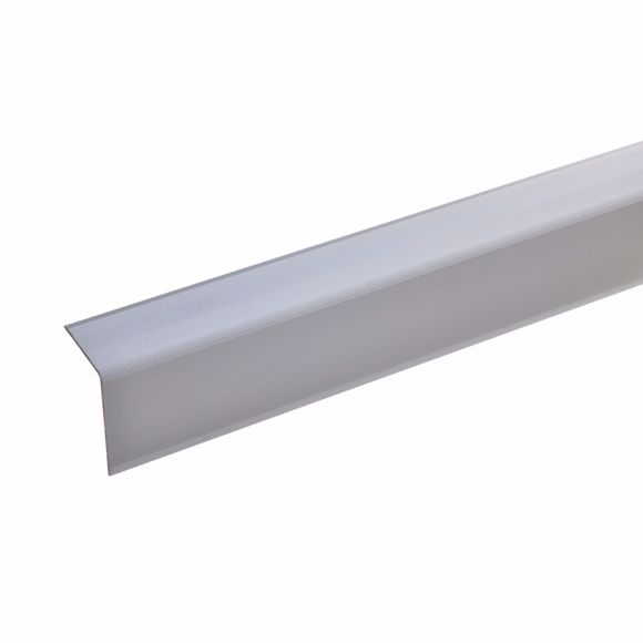 Picture of 42x30mm stair angle 100cm long silver undrilled