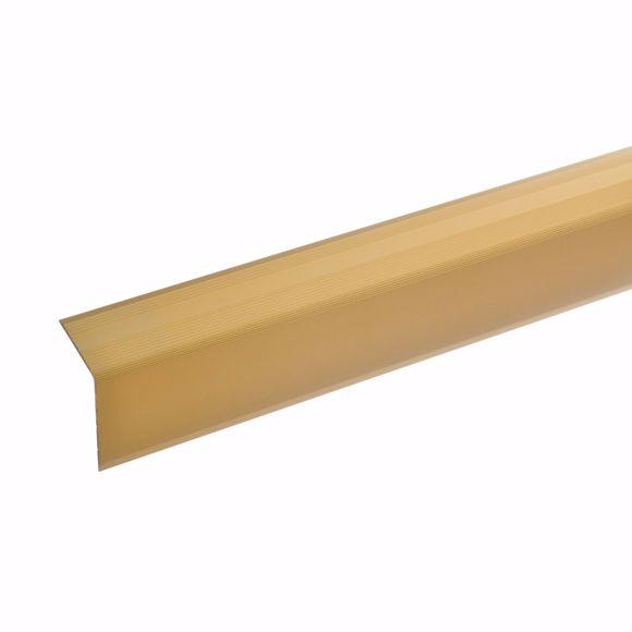 Bild von 42x30mm Treppenwinkel 100cm lang gold ungebohrt