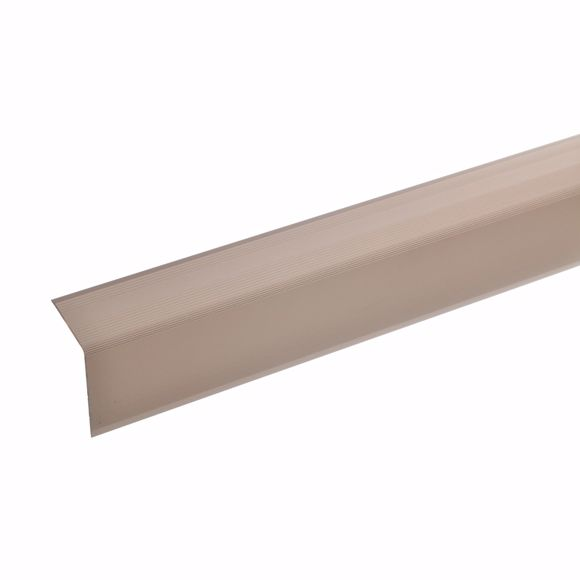 Picture of 42x30mm stair angle 100cm long bronze light undrilled