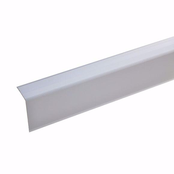 Image sur 52x30mm Angle d'escalier 100cm de long argent non percé