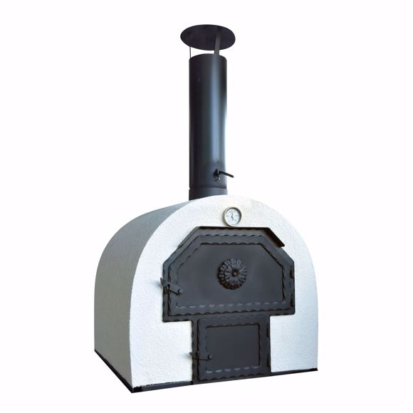 Picture of Stone oven for the garden 62x62cm * double chamber * fireclay brick
