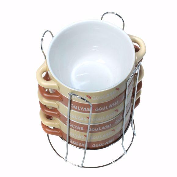 Immagine di 6 pz. ciotole in ceramica 08 L con supporto
