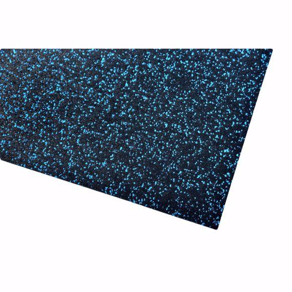 Image sur Tapis multifonctionnel tapis de sport 150x125x0,4 cm bleu sous-tapis pour appareils de fitness