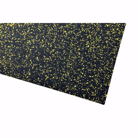 Image sur Tapis multifonctions Tapis de sport 150x125x0,4 cm jaune sous-couche pour appareils de fitness
