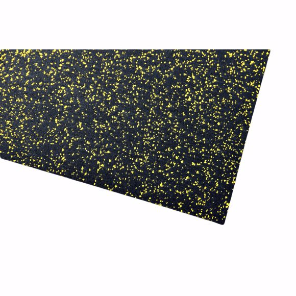 Picture of Multifunctional mat sports mat 200x125x0,4 cm yellow underlay for fitness equipment