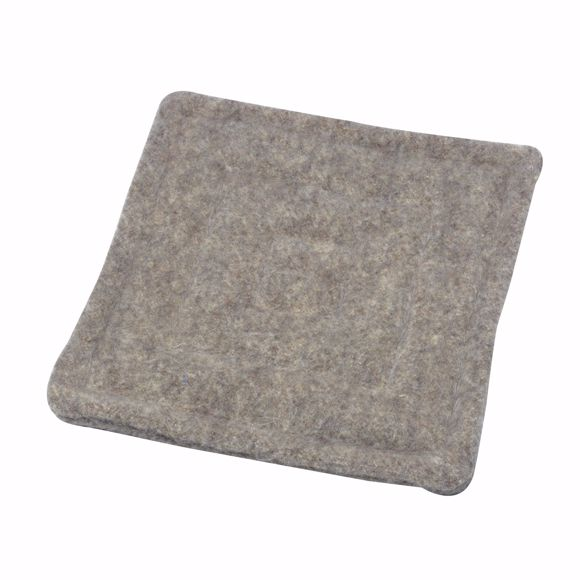 Picture of Seat cushion grey 40x40cm greek sheep wool 100%