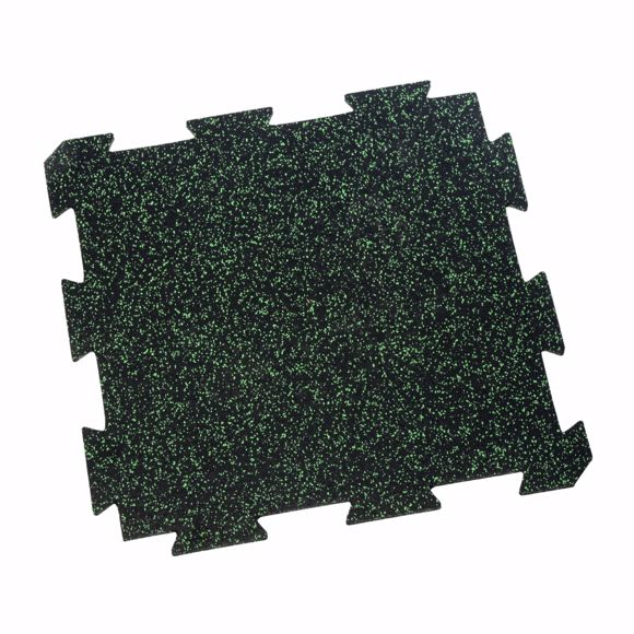 Picture of 1 piece sports mat 60x60x1 cm green puzzle
