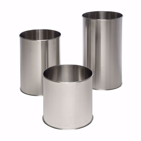 Picture of Set of 3 stainless steel flower pots round 350/500/650mm