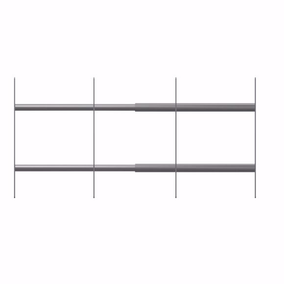 Picture of Window grille burglar protection for outside for retrofitting 751-1150mm; 300mm