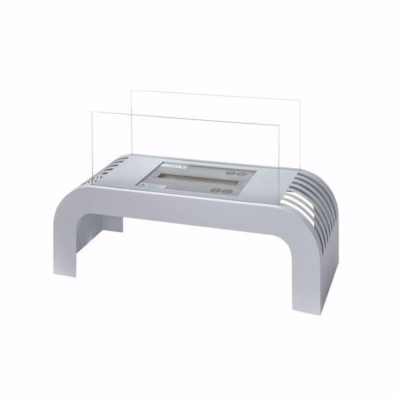 Image sur SORENTO Premium Ethanol cheminée de table argent - 2kW - 75x45x30cm
