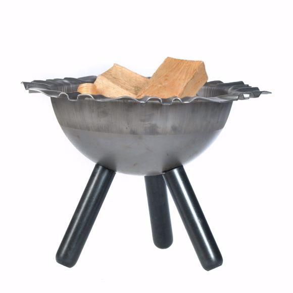 Image sur Bol à feu solide 40cm + 5 pcs. bois