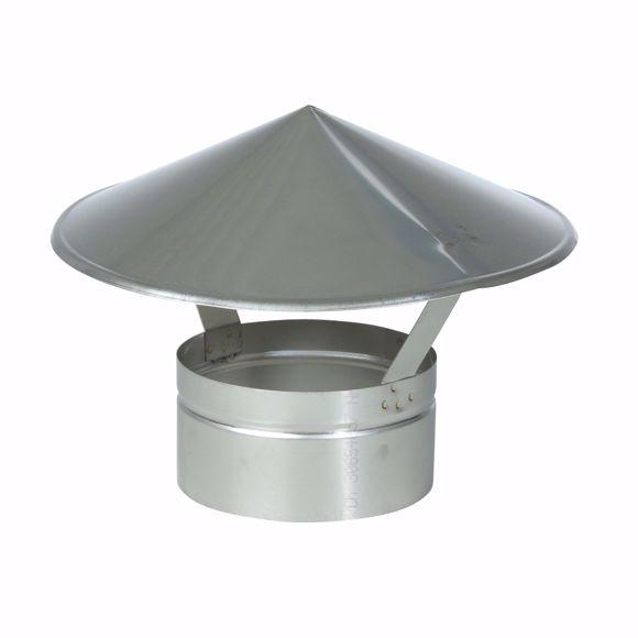 Image sur Chapeau de pluie SPITZ 180 mm V4A acier inoxydable
