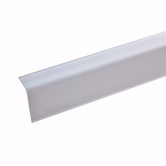 Picture of Aluminium staircase angle profile - silver - 100cm 52x30mm self-adhesive