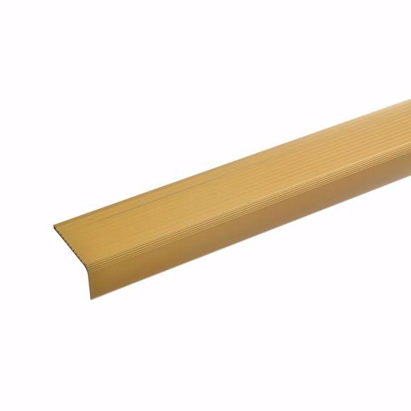 Image sur Profilé d'angle d'escalier en aluminium - doré - 100cm 23x40mm auto-adhésif