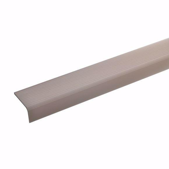 Picture of Aluminium stair angle profile - bronze light - 100cm 23x40mm self-adhesive
