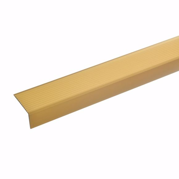 Picture of Aluminium stair angle profile - gold - 100cm 20x40mm self-adhesive