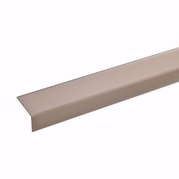 Picture of Aluminium stair angle profile - bronze light - 100cm 20x40mm self-adhesive