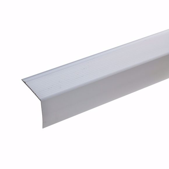 Picture of Aluminium stair angle profile - silver - 100cm 42x50mm self-adhesive