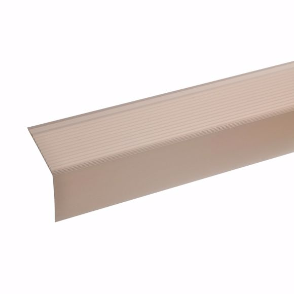 Picture of Aluminium stair angle profile - bronze light - 100cm 42x50mm self-adhesive