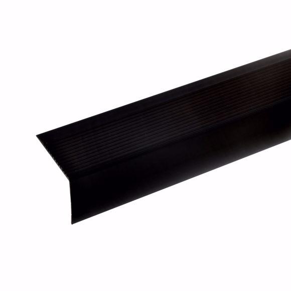 Picture of Aluminium stair angle profile - bronze dark - 100cm 42x50mm self-adhesive