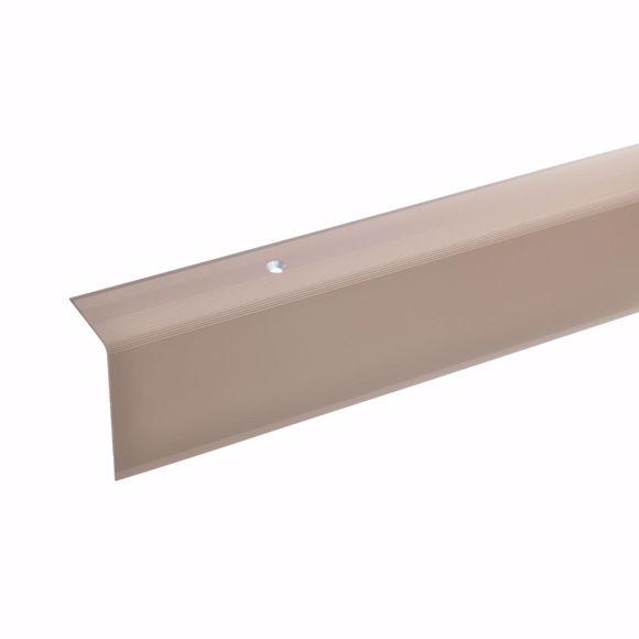 Picture of 52x30mm stair angle 135cm long bronze light drilled