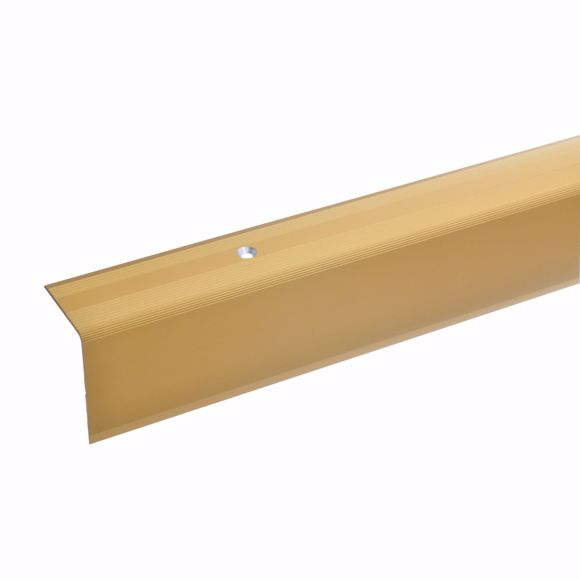 Picture of 42x30mm stair angle 135cm long gold drilled