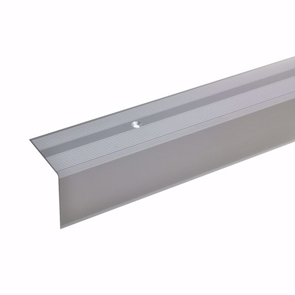 Picture of 42x40mm stair angle 100cm long silver drilled